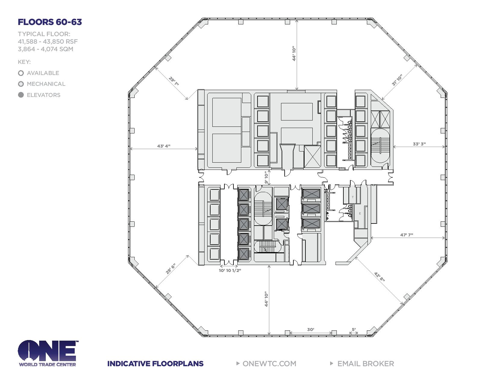 Wtc Floor Plan One World Trade Center Freedom Tower Floor Plans New