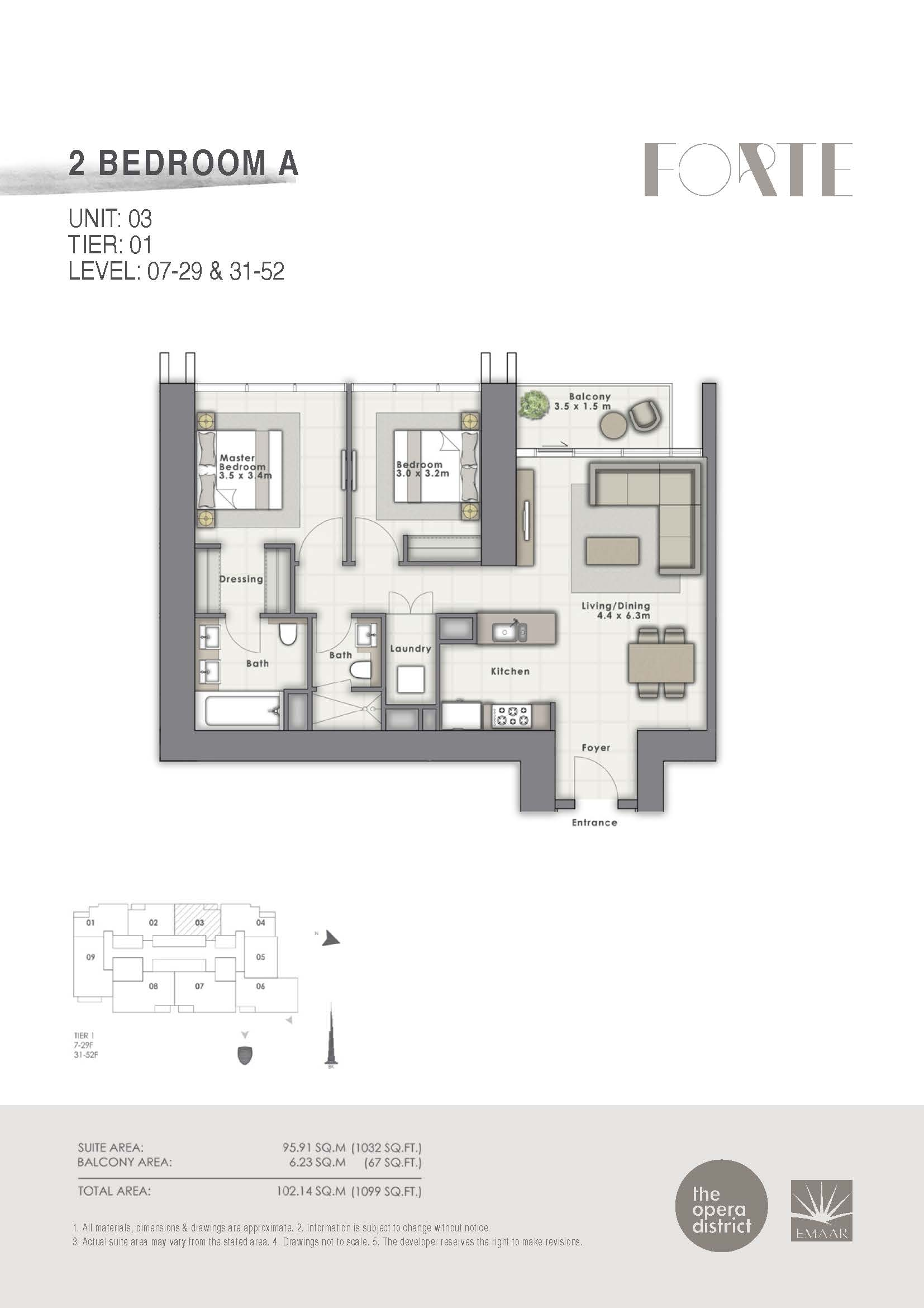 Forte floor plans opera district downtown dubai for Floor plans by address