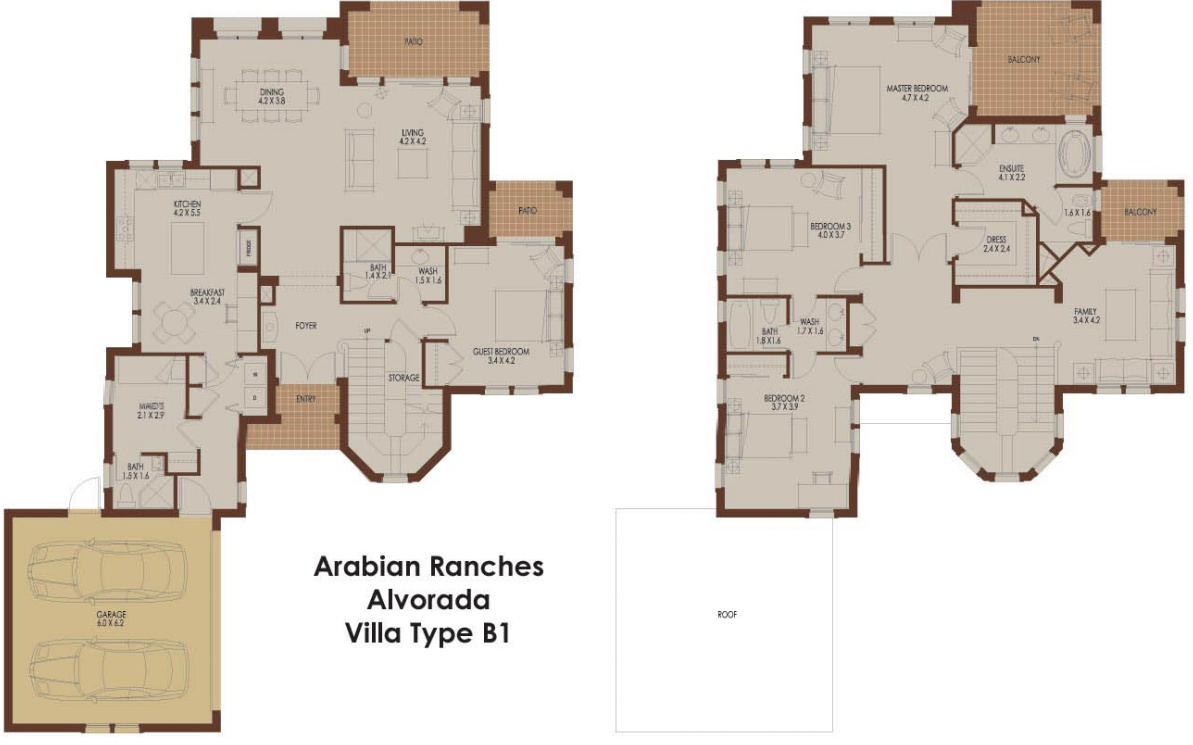 Alvorada b1 arabian ranches dubai floor plans for Floor plans com