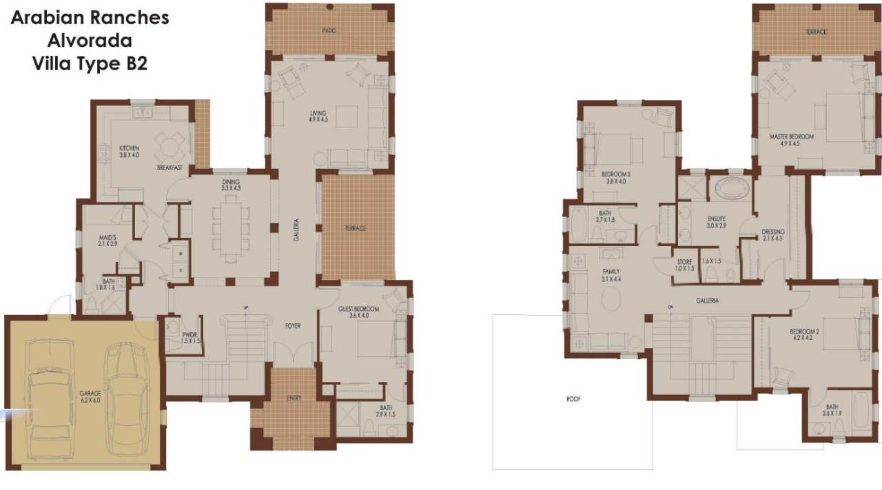 Alvorada B2 Arabian Ranches Dubai Floor Plans