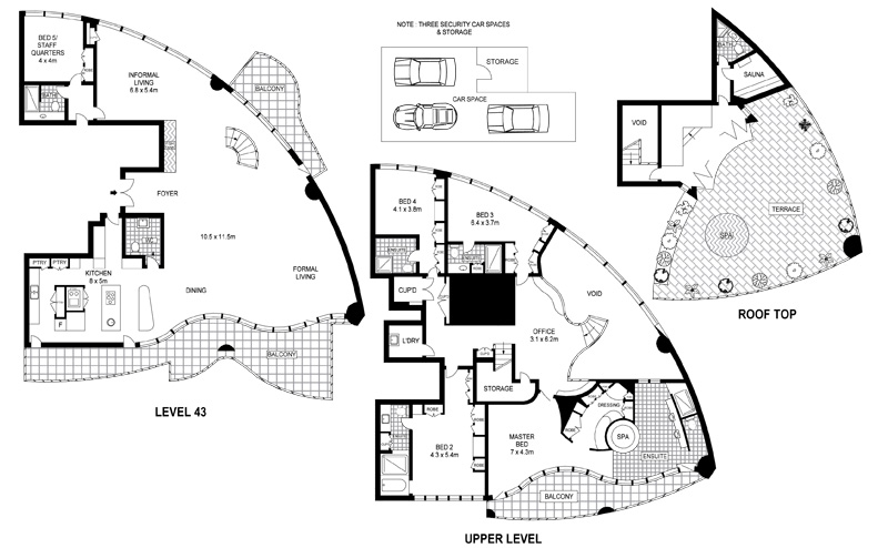 luxury apartments plan. The Penthouse Floorplan Cove Aprtments Sydney Australia Apartment Floor Plans  Interior Design