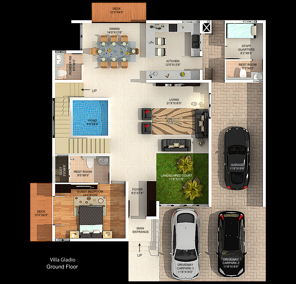 Sholinganallur Mantri Signature Villa Floor Plans