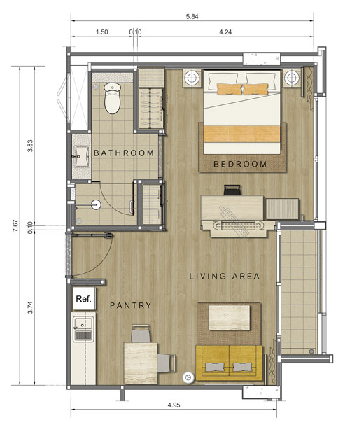 Amari residences floor plans bangkok thailand - Planning the studio apartment floor plans ...