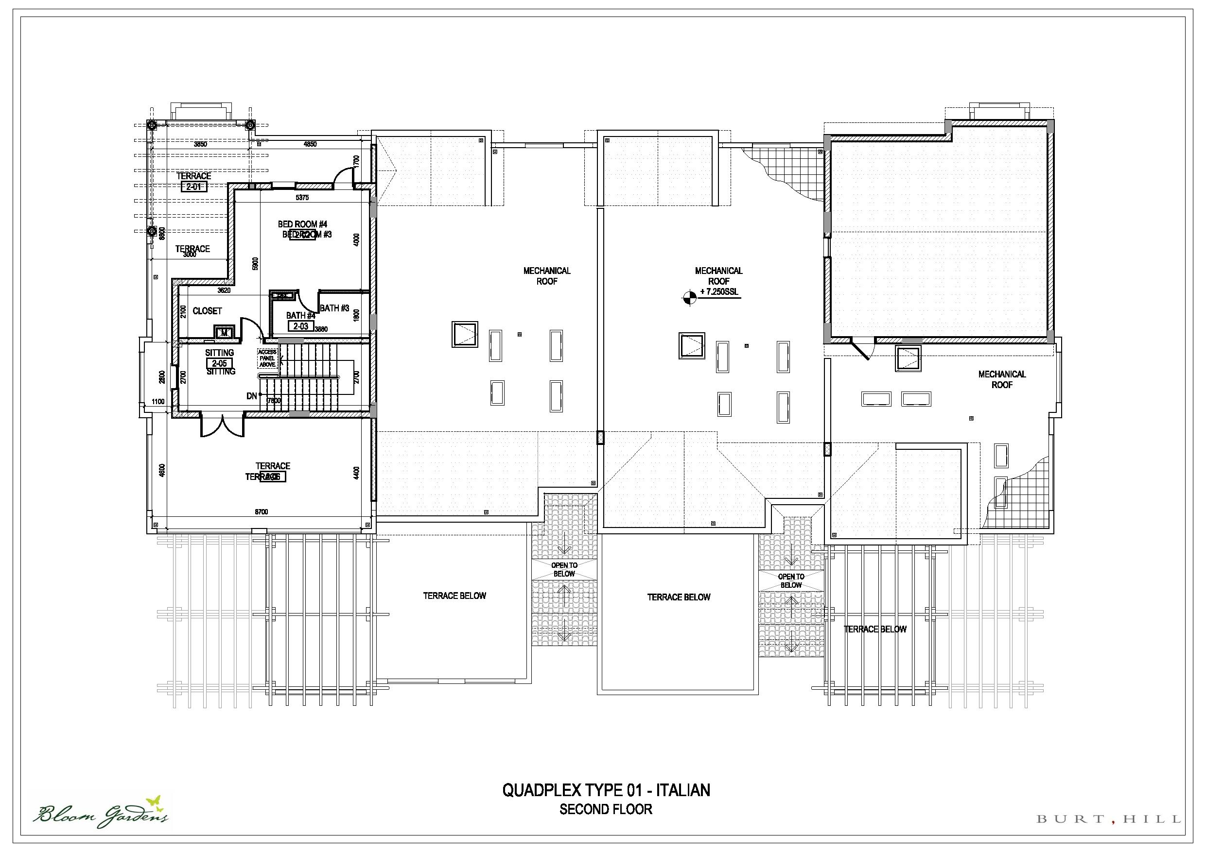 Bloom gardens villas floor plans bloom gardens abu dhabi for Quadplex plans
