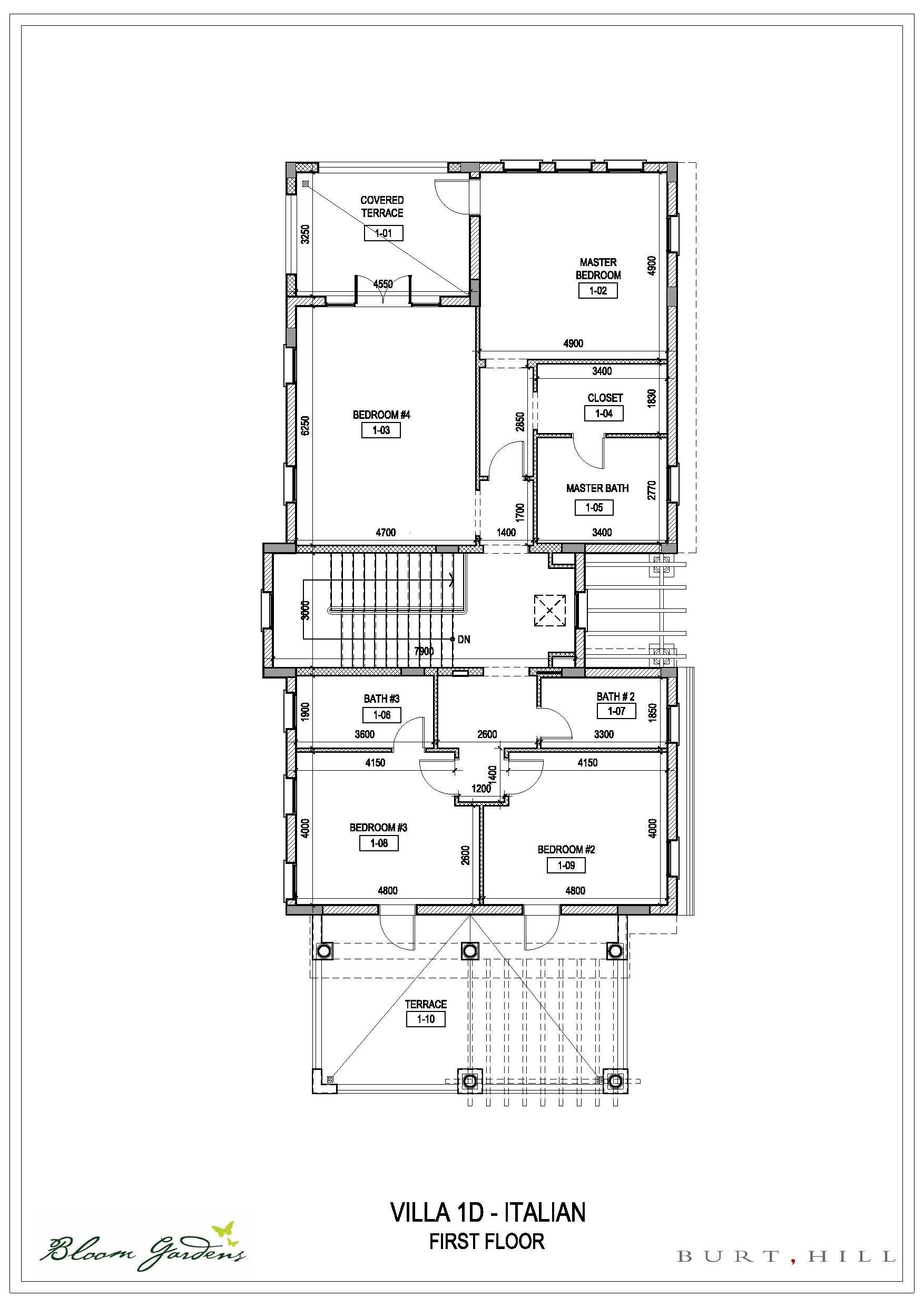 Bloom gardens villas floor plans bloom gardens abu dhabi for Italian villa floor plans