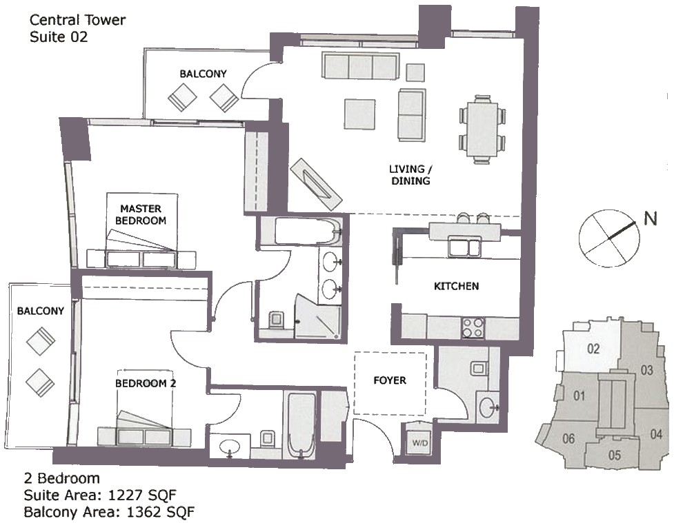 Burj Views Floor Plan Central Tower: floor plan view