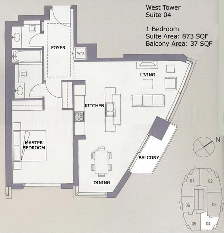 Burj Views Floor Plan West Tower