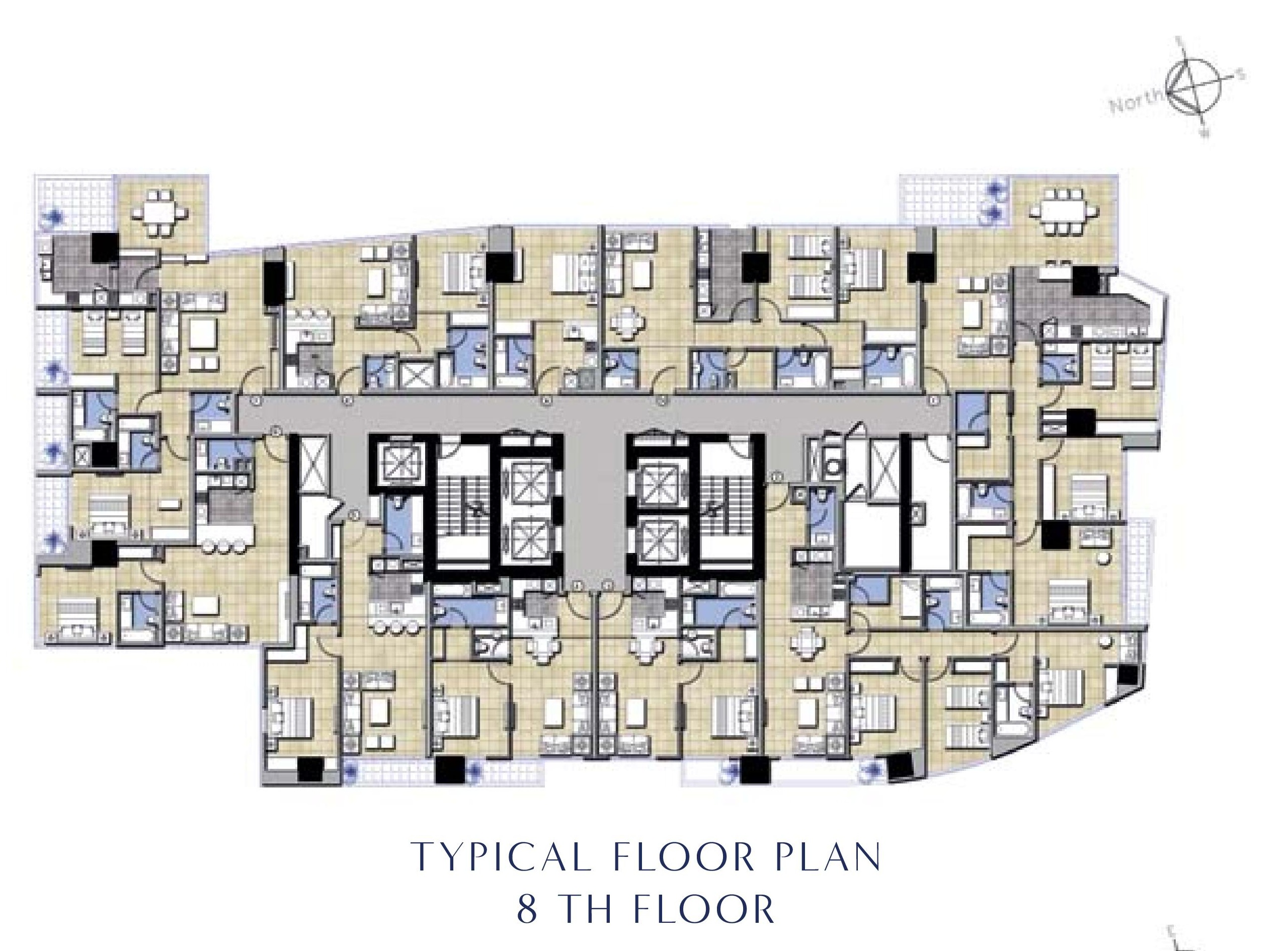 Terrace Floor Plans Water Edge Hotel Apartments Damac Maison Business Bay