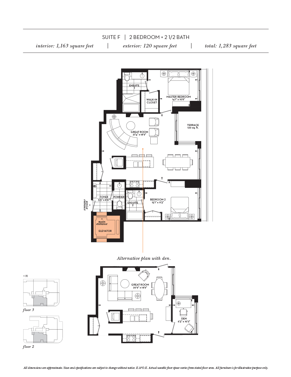 The Davies Floor Plans 281 Avenue Road Toronto Ontario