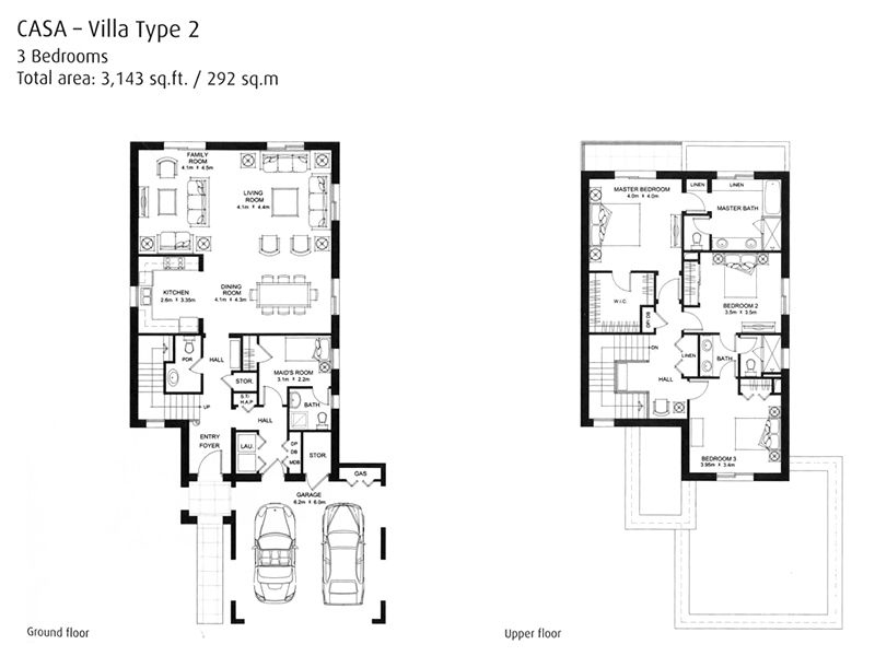Casa floorplans arabian ranches dubai for Plan villa r 2