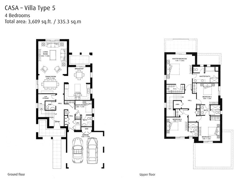 Casa floorplans arabian ranches dubai for Casa floor
