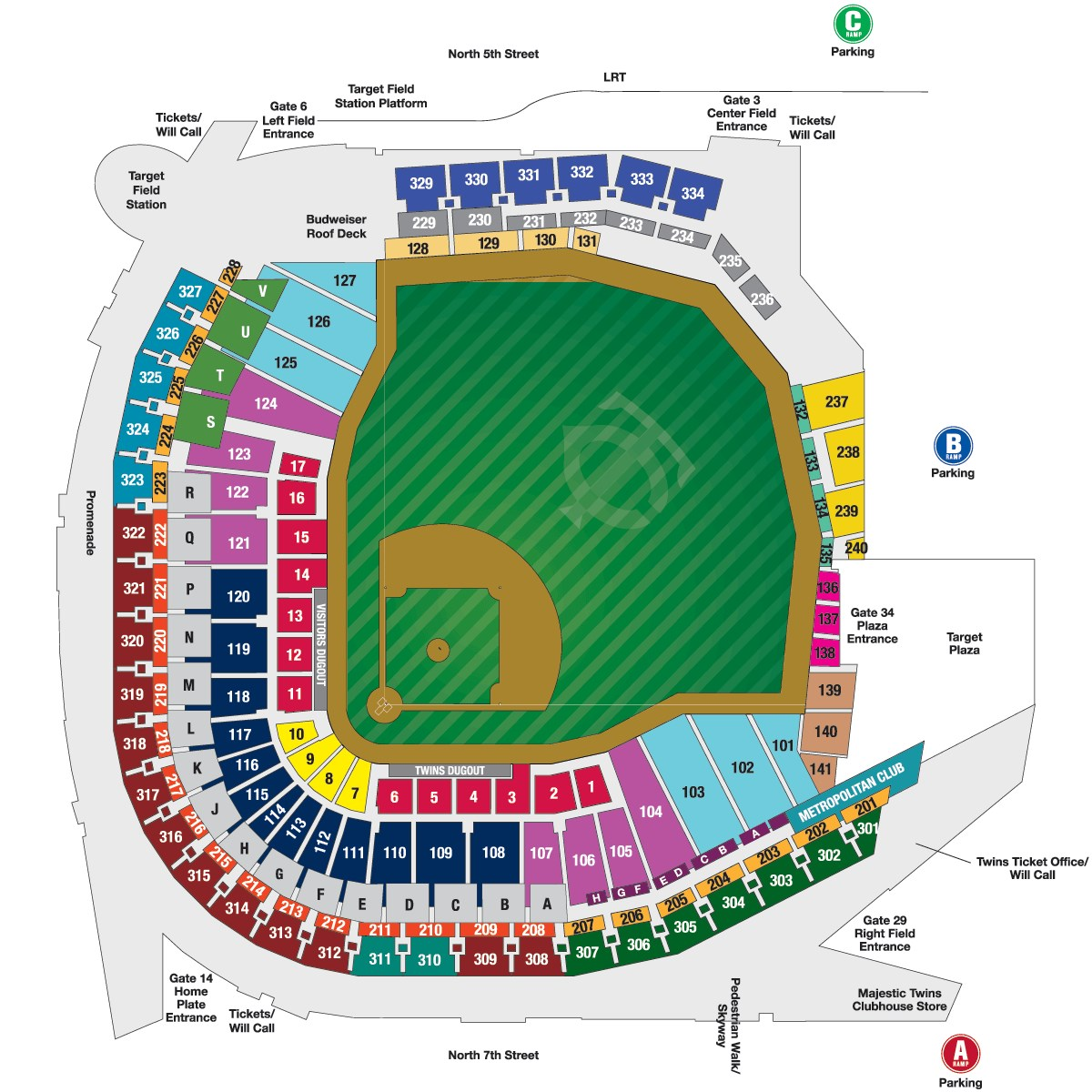 Wrigley Field Layouts Chicago
