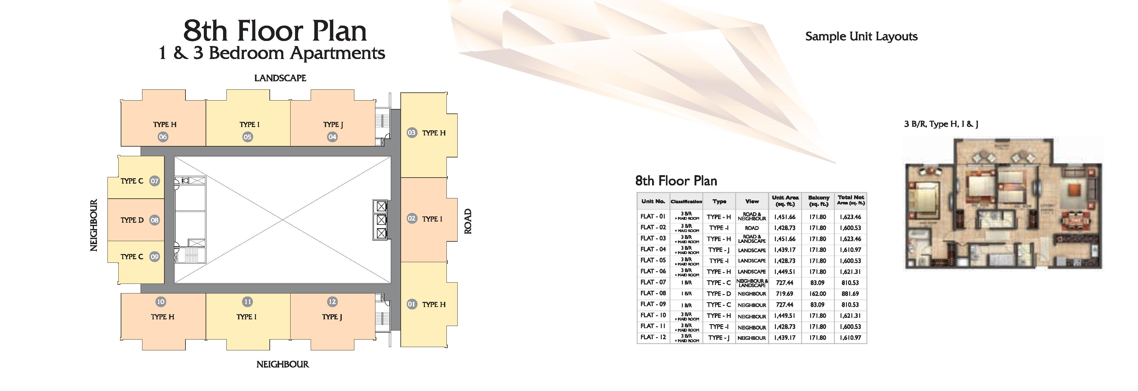 Coral Residence Floor Plans Dubai Silicone Oasis