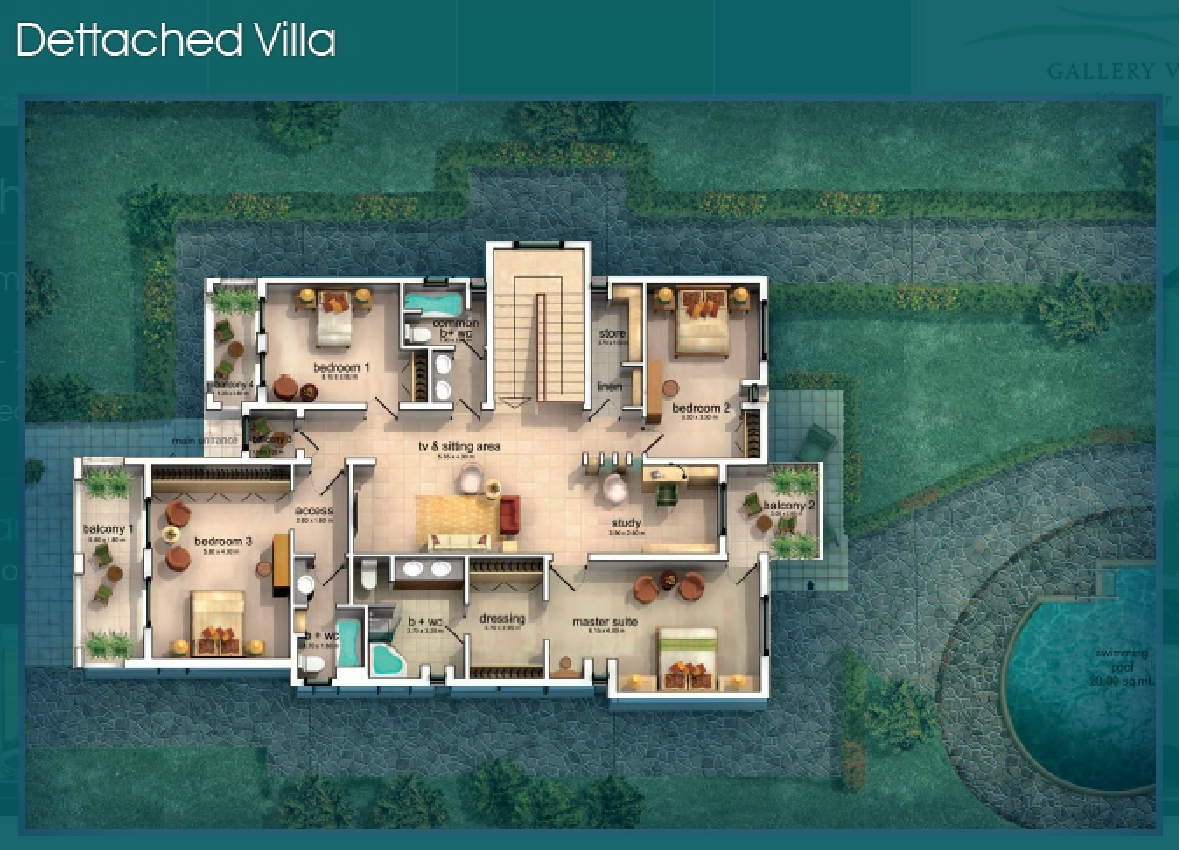 Modern villas joy studio design gallery best design for Villa floor plans