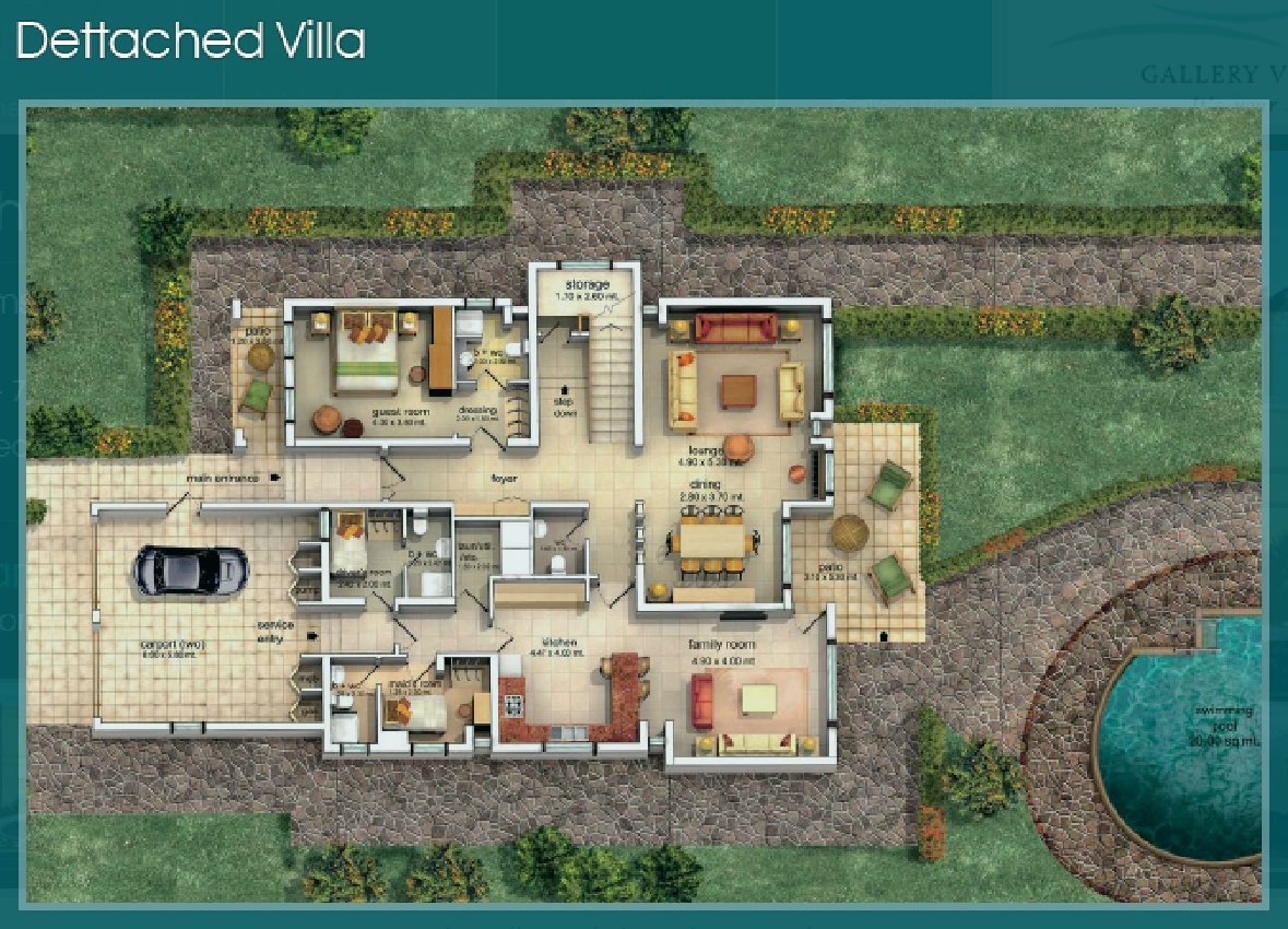 Villa Floor Plans Gallery Villas Detatched Ground Floor