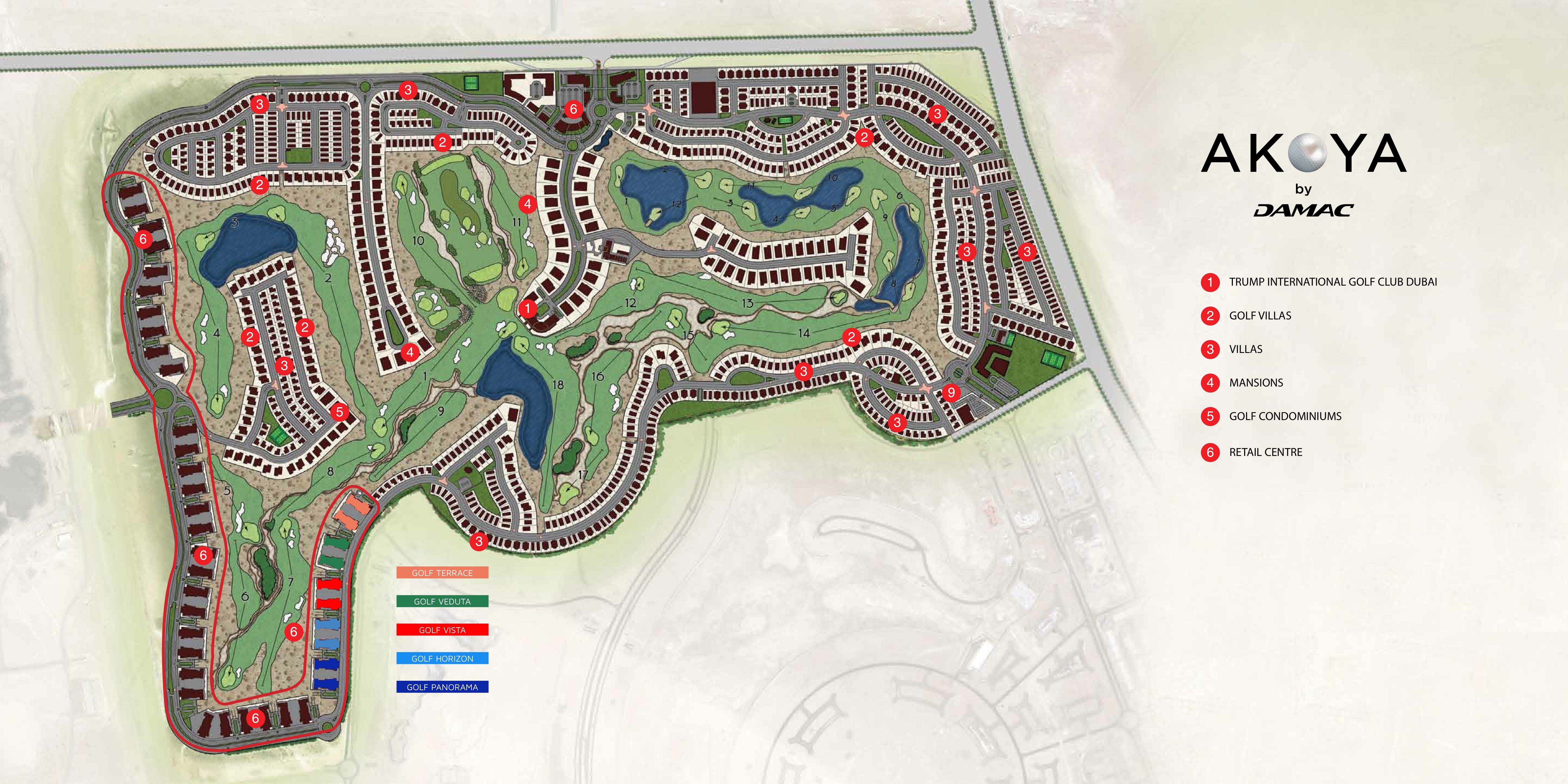 akoya golf condominiums floor plans   dubai uae