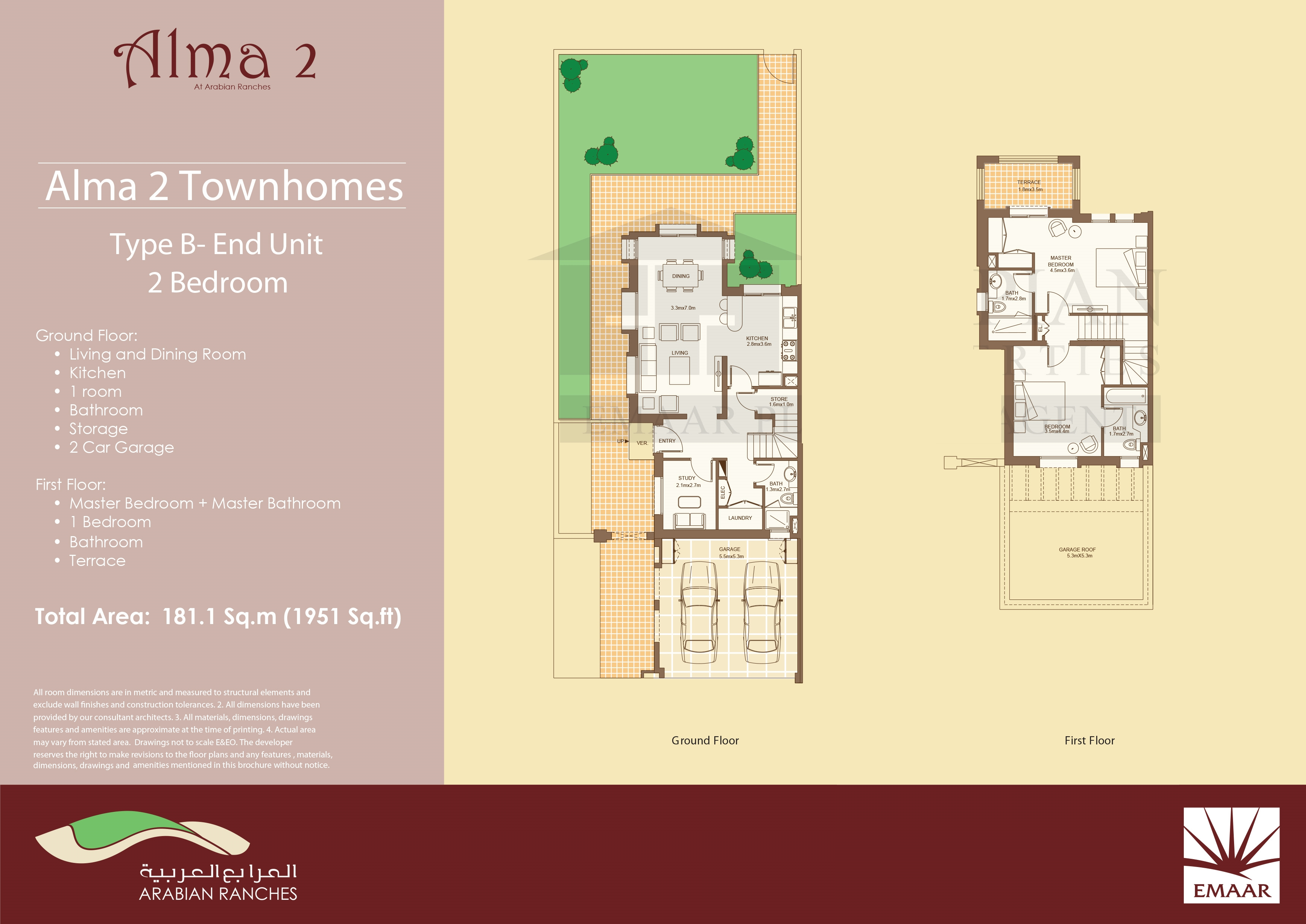 Townhome Floor Plans Alma Townhome Floor Plans Arabian Ranches