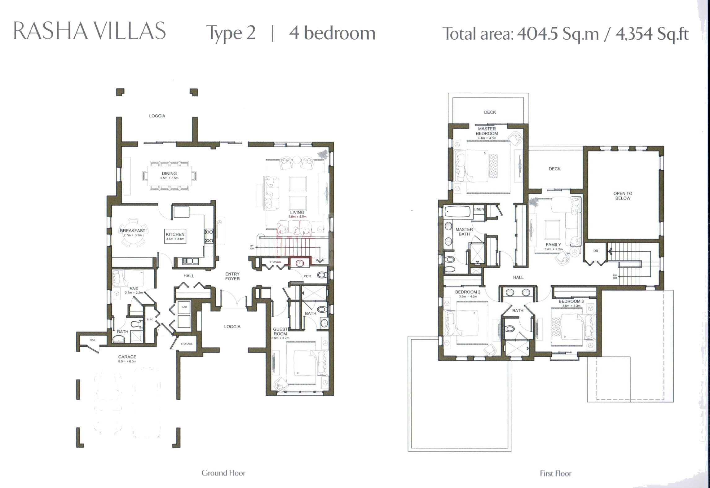 Al rasha villa floor plans arabian ranches dubai for Plan villa r 2