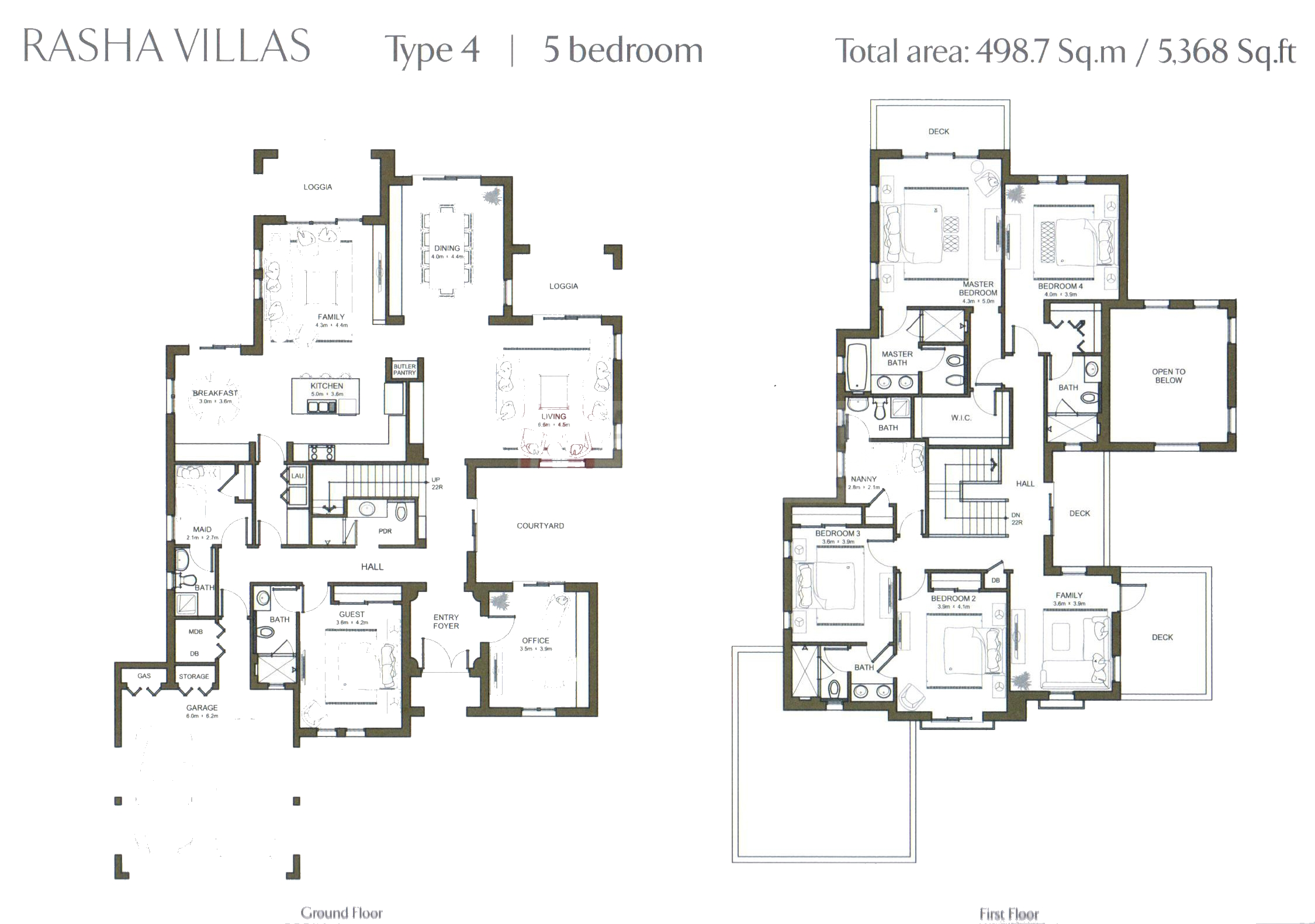 Al rasha villa floor plans arabian ranches dubai for Plan de villa style americain