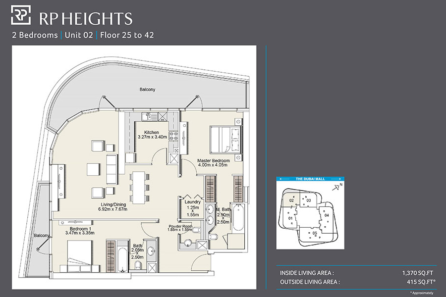 Rp heights floor plans downtown dubai for Floor plans jumeirah heights