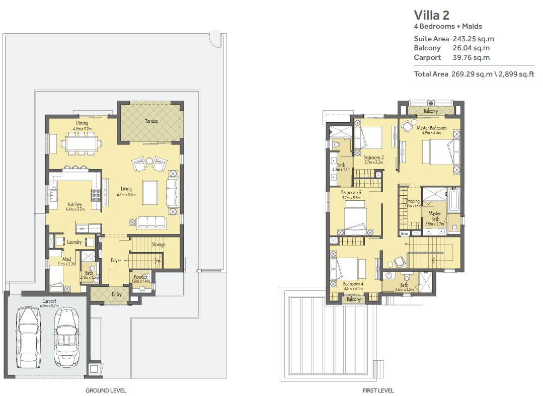 La qunita floor plans villa nova dubailand for Plan villa r 2