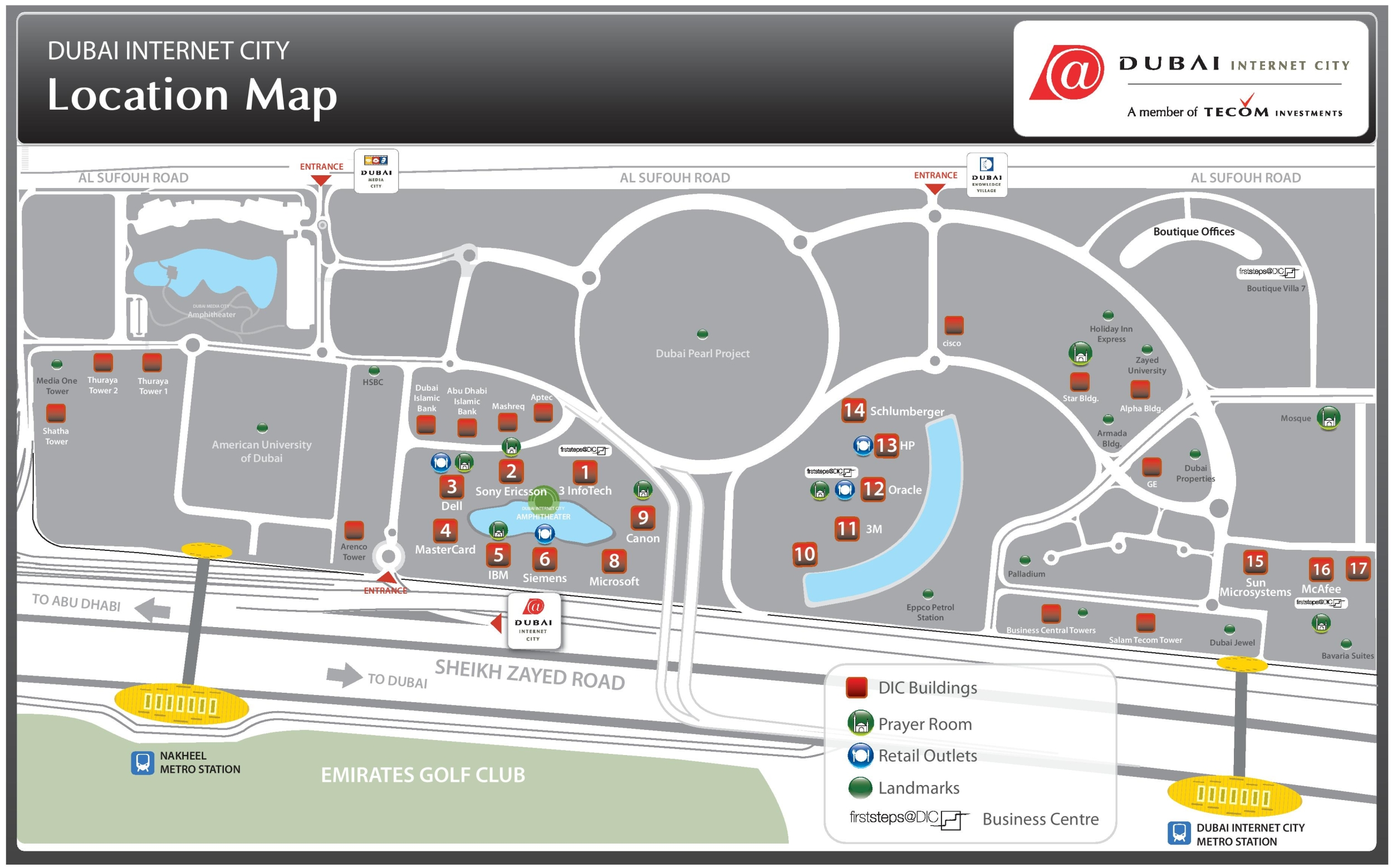 dubai internet city map pdf