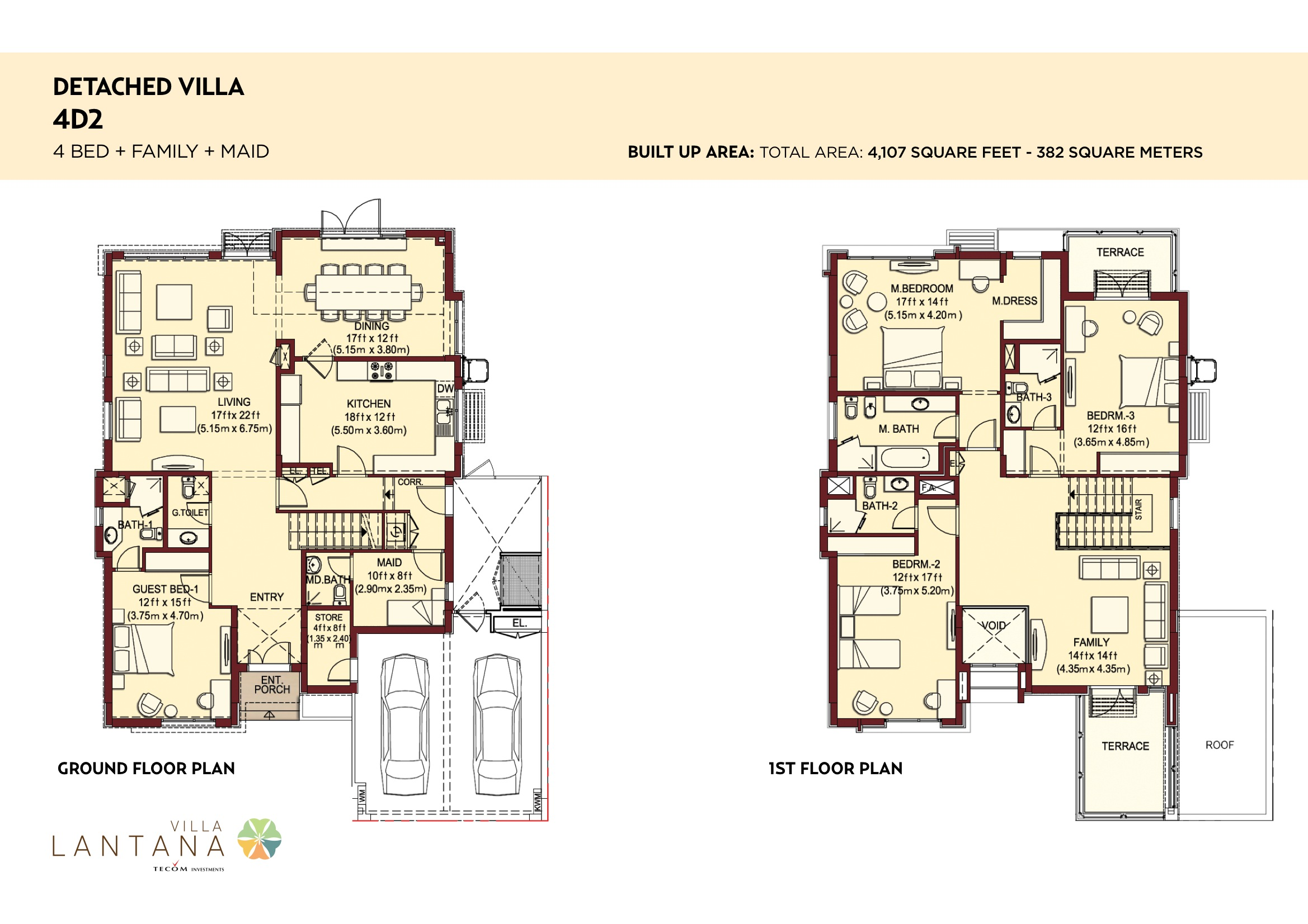 Villa lantana floorplans jumeirah village circle jvc dubai for Floor plans jumeirah heights
