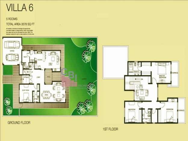 The lakes villa floor plans the lakes dubai uae for Floor plans zulal lakes dubai