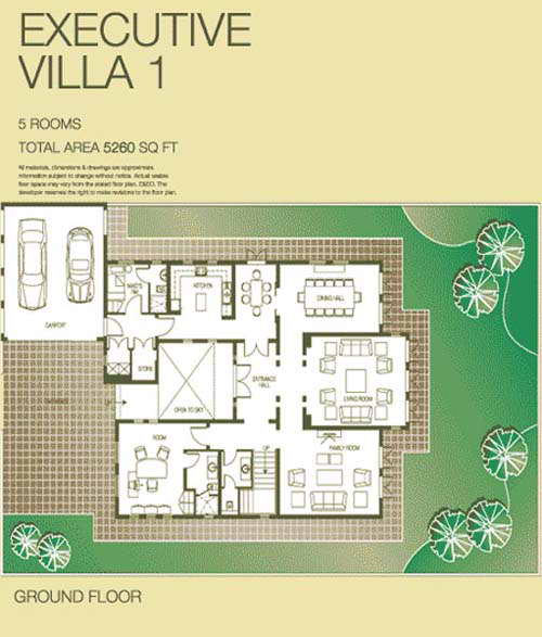 Executive lakes villa floor plans the lakes dubai for Floor plans zulal lakes dubai