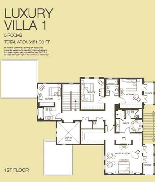The lakes luxury villa floor plans the lakes dubai uae for Floor plans zulal lakes dubai