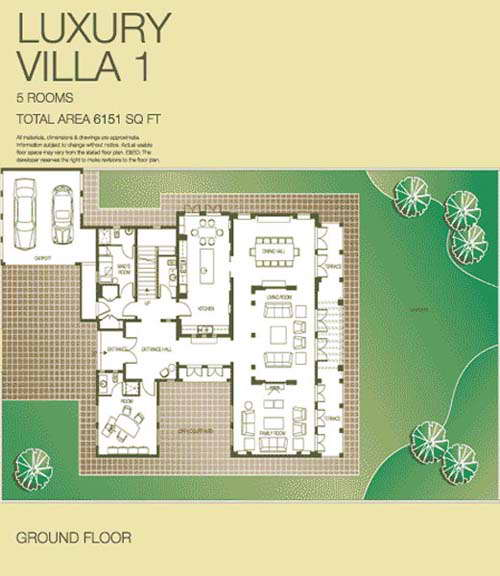 the lakes luxury villa floor plans   the lakes dubai uae