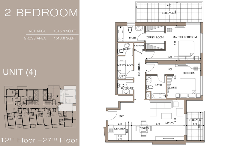 Continental Tower Floorplans - Dubai Marina