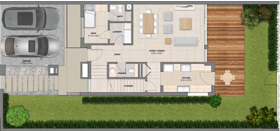 Arabella floor plans mudon dubai for Townhouse layout 3 bedrooms