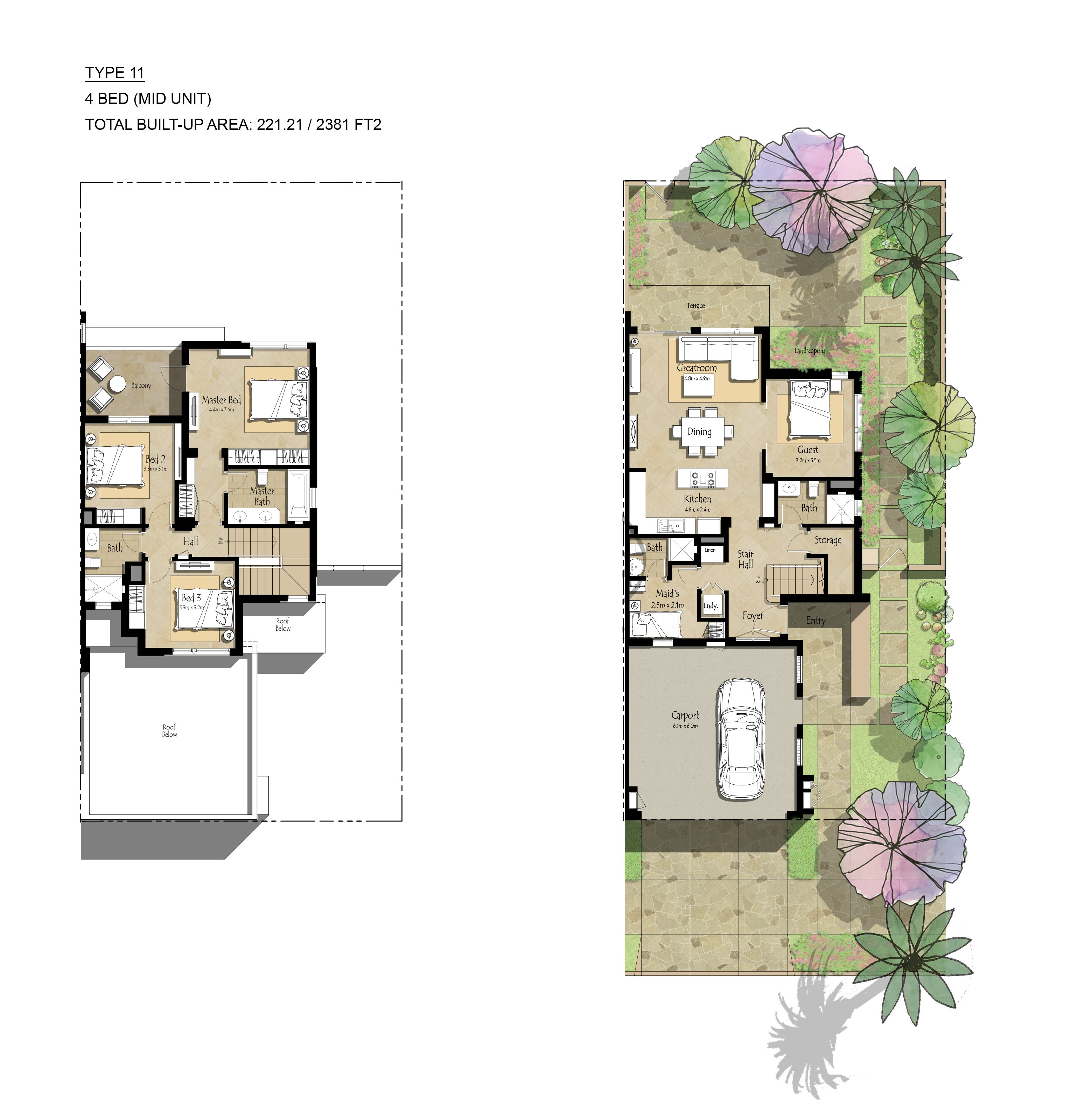 Safi townhouse floor plans town square dubai for 4 bedroom townhouse floor plans