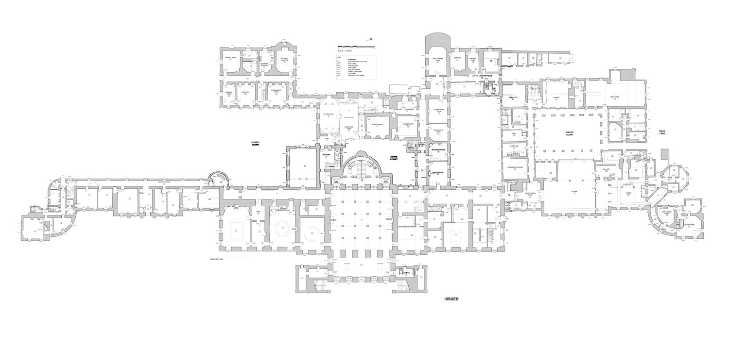 Wentworth Woodhouse Floor Plans - Rotheram, England