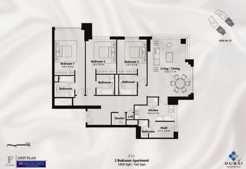 Executive Towers Floor Plans Business Bay Dubai