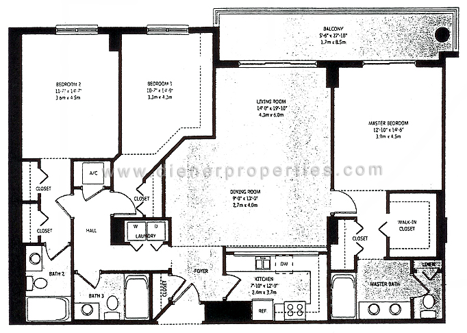 Brickell Key Floor Plans - Miami, Florida