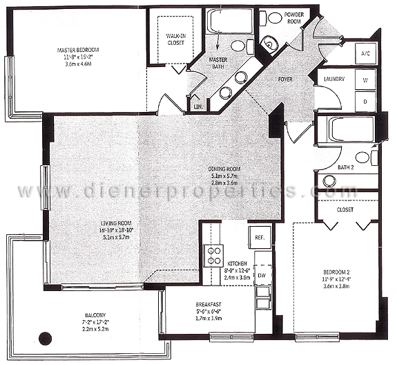 Brickell key floor plans miami florida for 11 brunel court floor plans