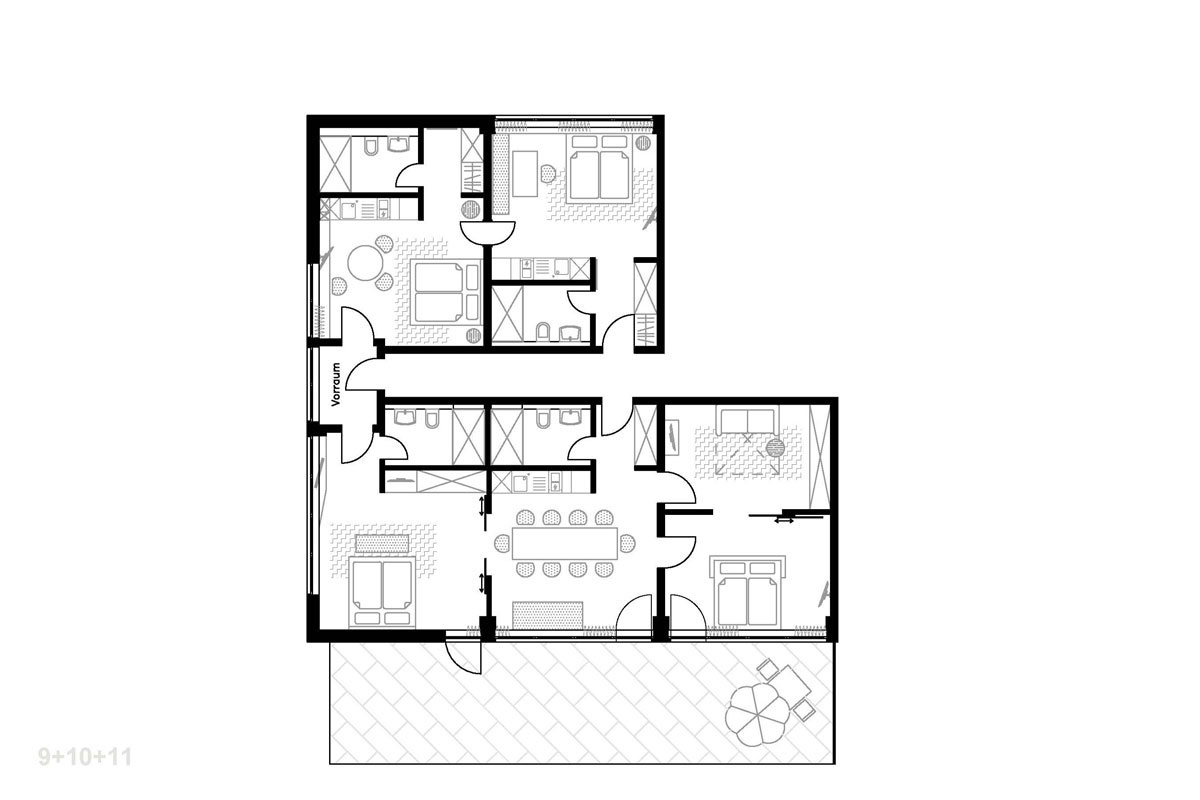 M loft apartment floor plans munich germany for Floor plans com
