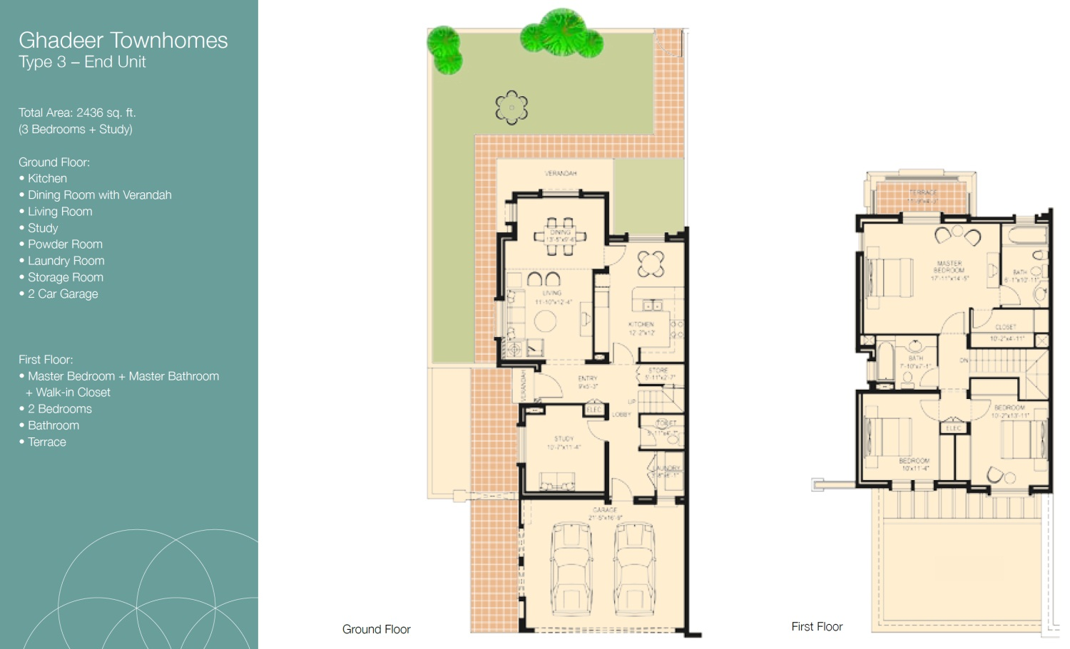 Ghadeer villa floor plans the lakes dubai for Floor plans zulal lakes dubai