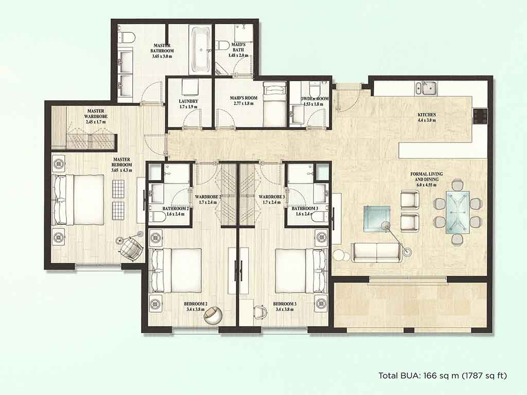 5 Room Floor Plan Alandalus Floor Plans Jumeirah Golf Estates Dubai