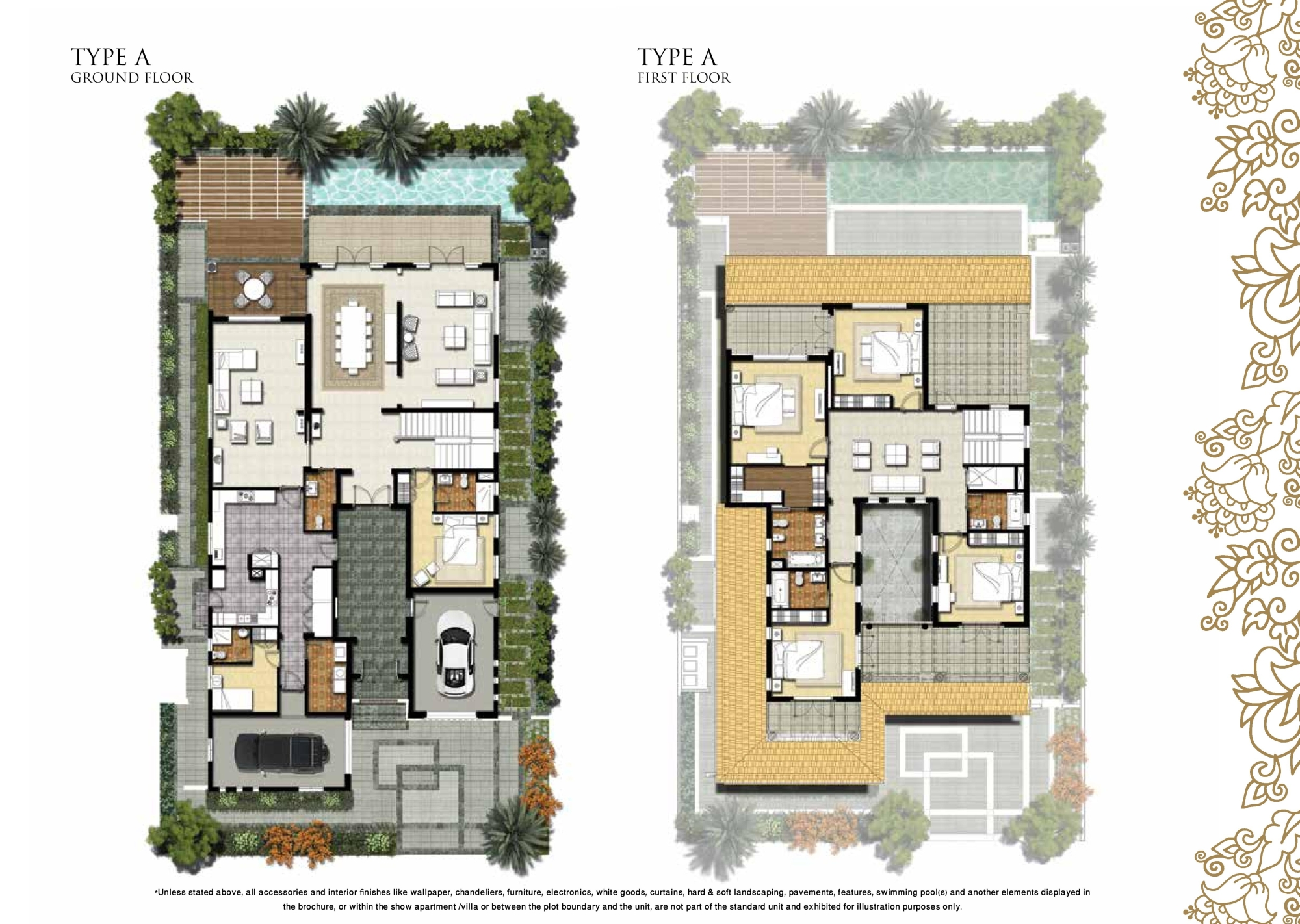 Royal golf villas floor plans by damac jumeirah golf for Floor plans jumeirah heights
