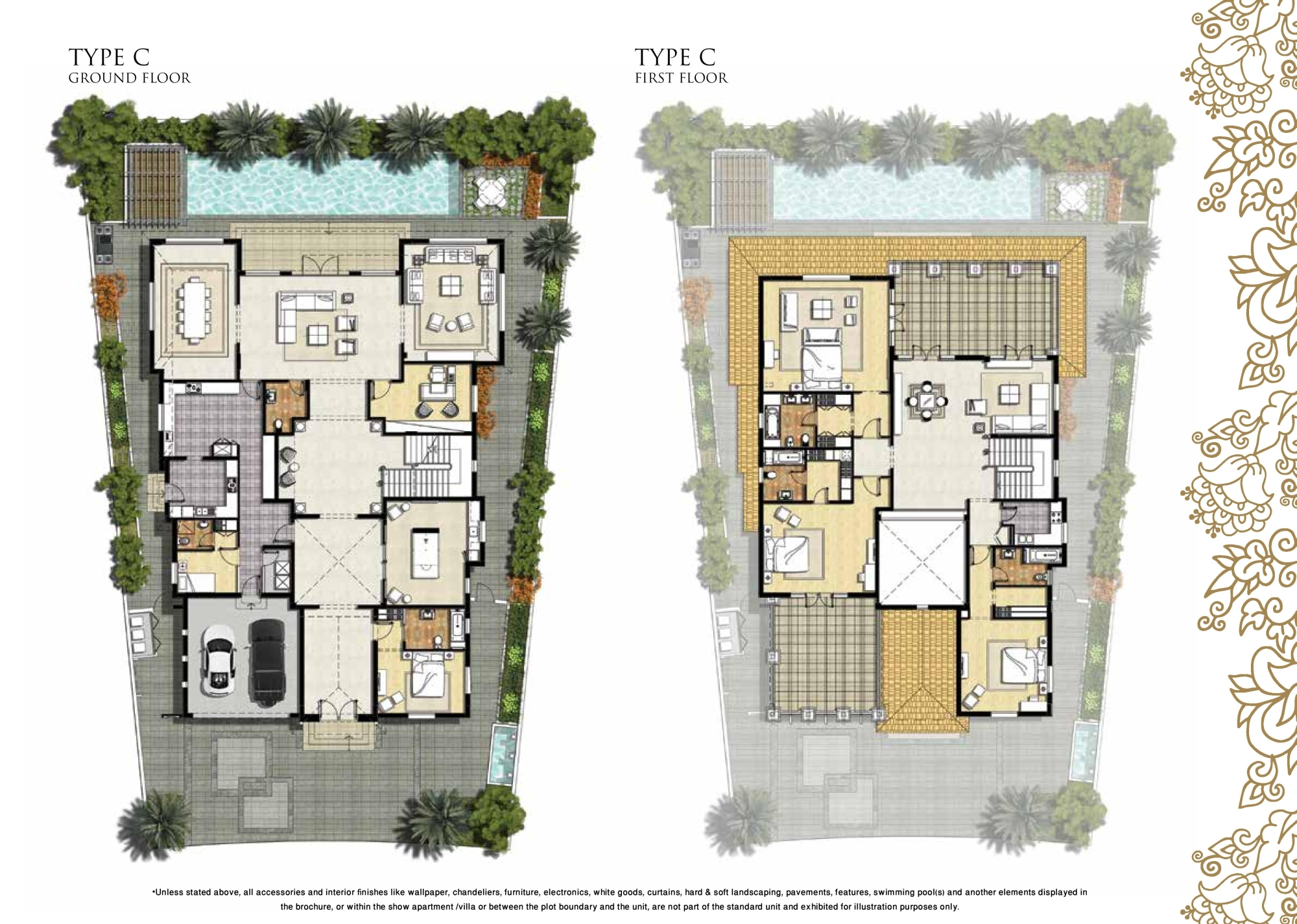 Palm Jumeirah Floor Plans Royal Golf Villas Floor Plans By Damac Jumeirah Golf