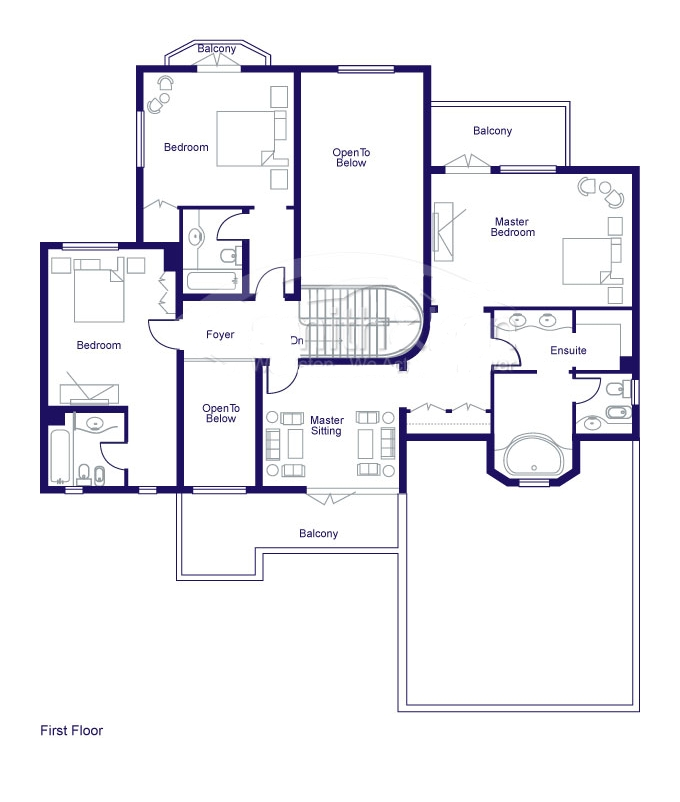 Entrance foyer floor plans jumeirah islands dubai for Floor plans jumeirah heights