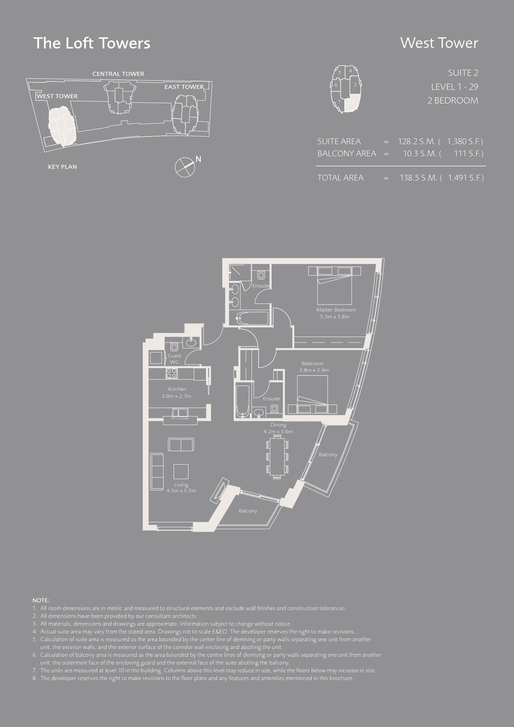 Lofts West Tower Floor Plans - Downtown Dubai
