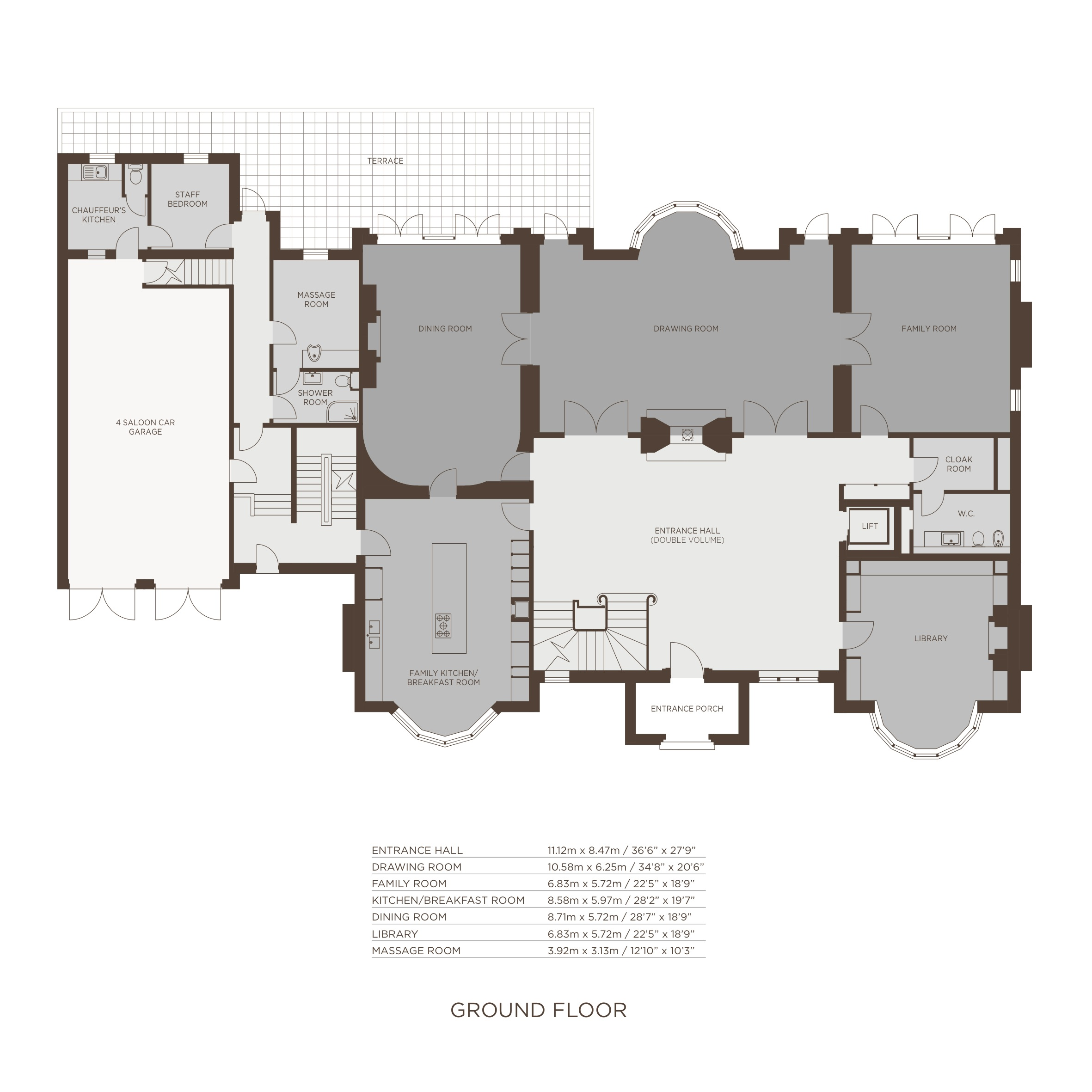 Jersey house floor plans the bishops avenue barnet london for House design london
