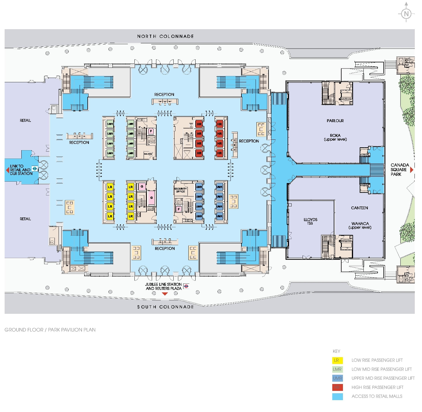 One canada square floor plans canary wharf london for Floor plans canada