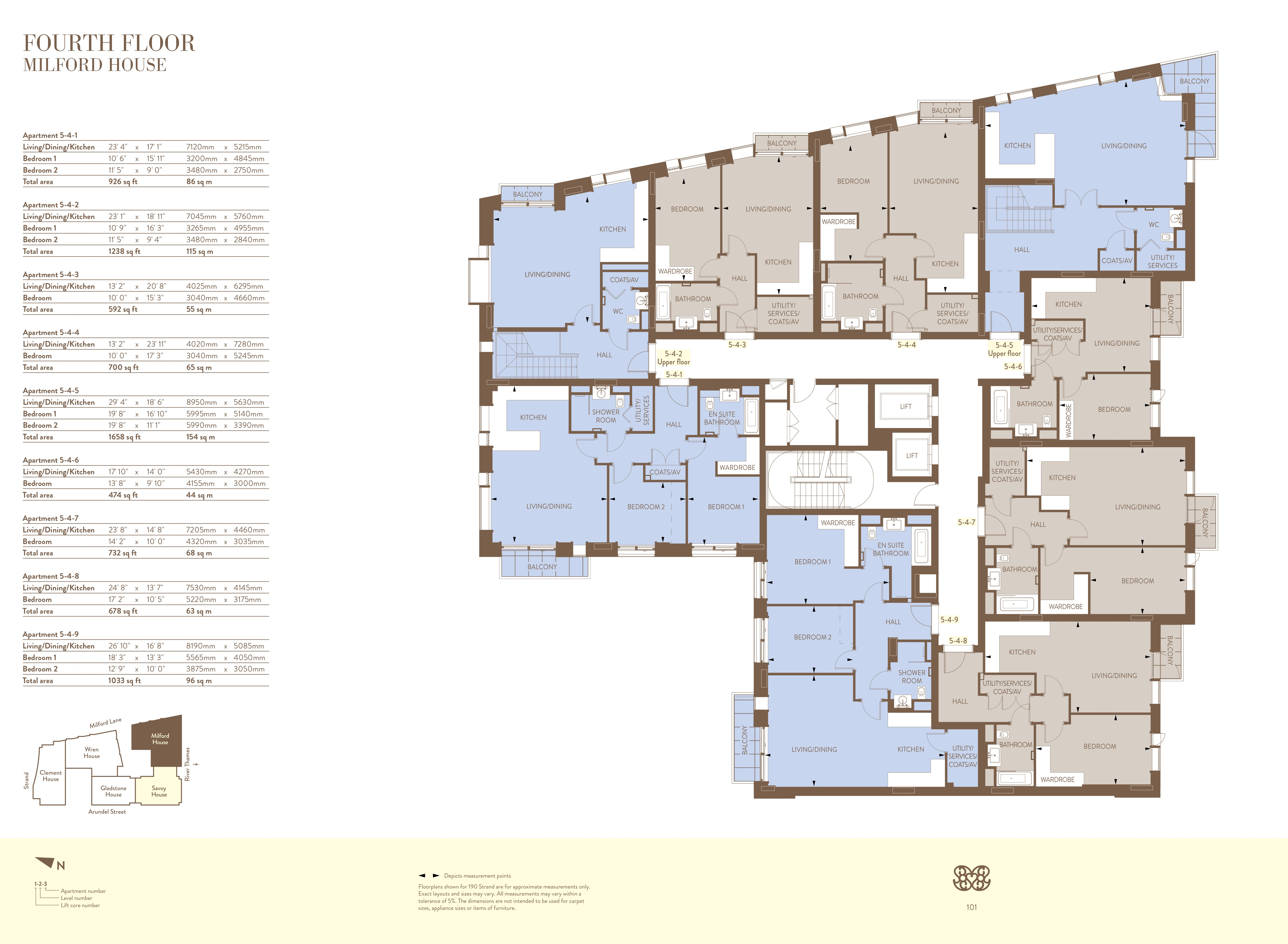 190 Strand Floor Plans - WC2 City of Westminster, London