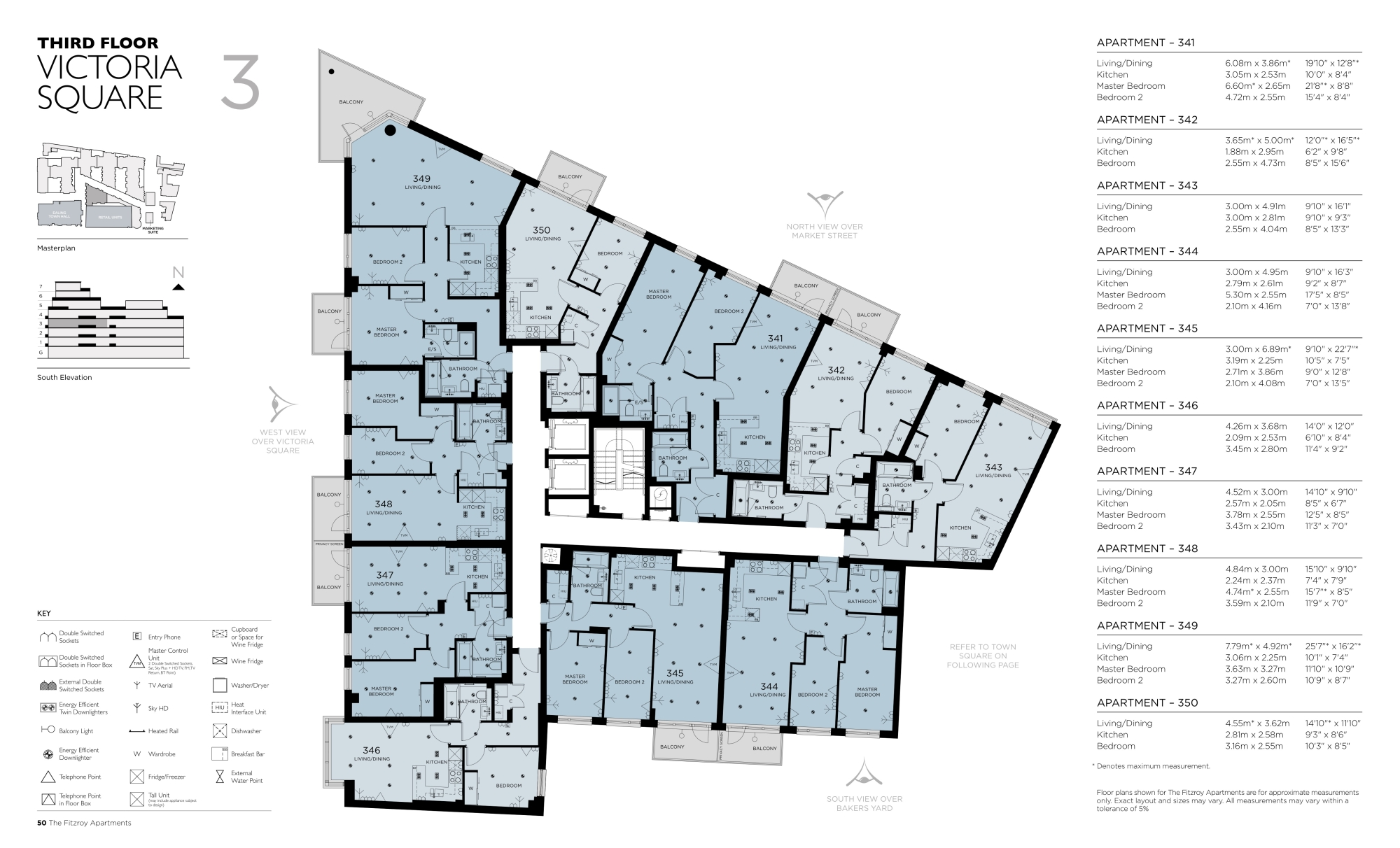 The fitzroy floor plans ealing london for Apartment floor plans london