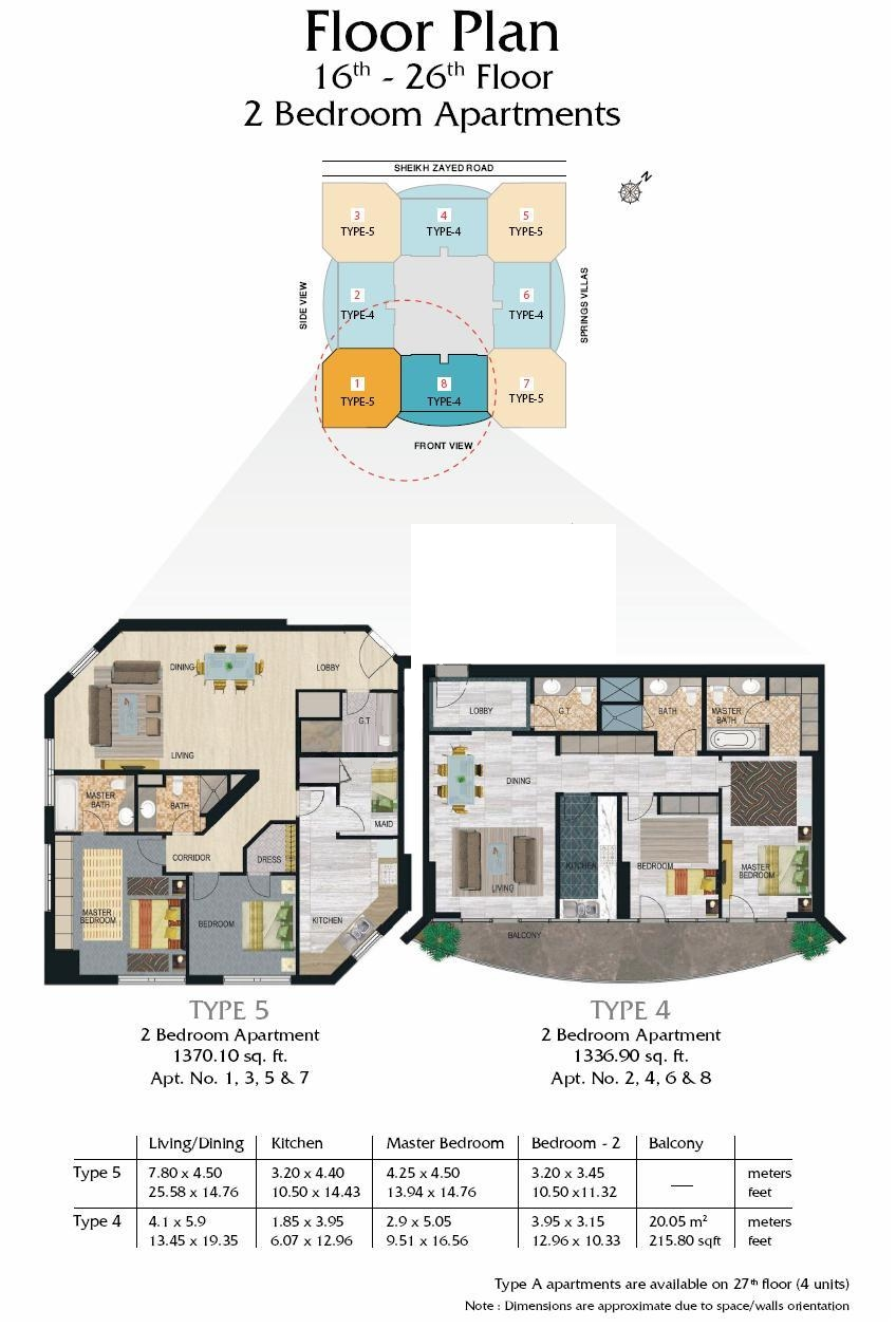 Madison residency floor plans tecom dubai for Floor plans with pictures